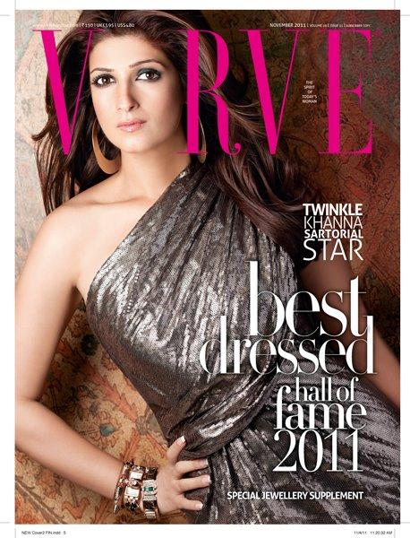 Twinkle Khanna on Verve Magazine