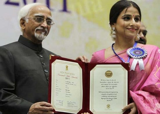 Vidya Balan Receiving her first Best Actress National Award for The Dirty Picture