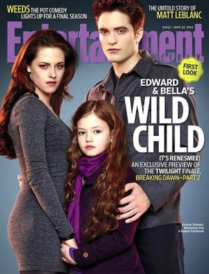 Edward, Bella & Renesmee on Entertainment Weekly Magazine