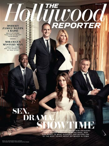 David Nevins, Claire Danes, Matt LeBlanc, Emmy Rossum & Don Cheadle in The Hollywood Reporter
