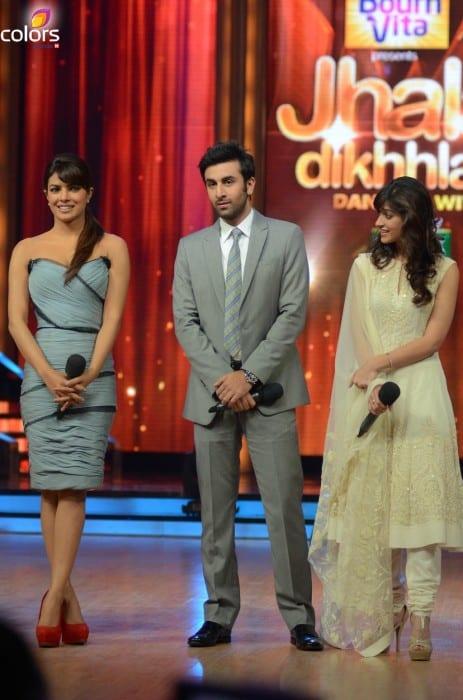 Ranbir-Priyanka-Ileana-dCruz-on-Jhalak-for-Barfi-promotions-2-463x700
