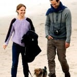 Natalie Portman and Benjamin Millepied Spotted Walking on the Beach with their dog Whiz