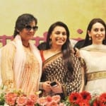 Rani Mukherji, Karisma Kapoor, Shabana Azmi, Mrinal Kulkarni at the Women-s Safety in Mumbai Event