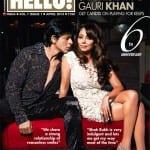 Shah Rukh Khan and Gauri Khan on Hello Magazine