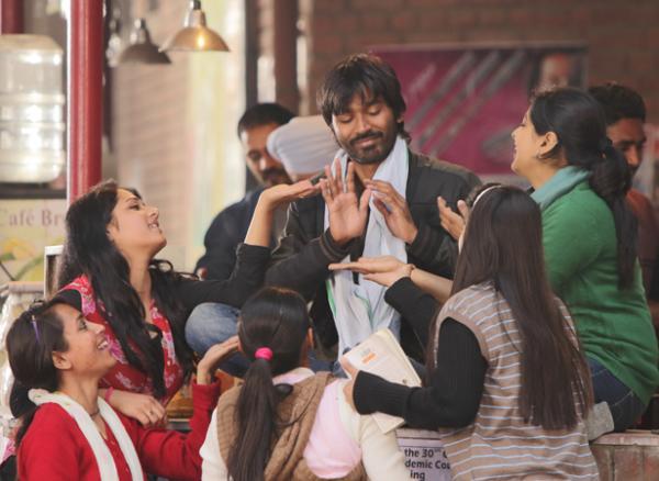 Abhay Deol, Dhanush and Sonam Kapoor in Raanjhanaa