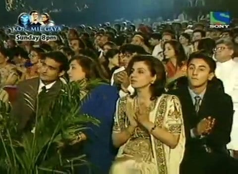 Akshaye Khanna, Ranbir Kapoor and Neetu Singh Spotted at the 1997 Filmfare Awards