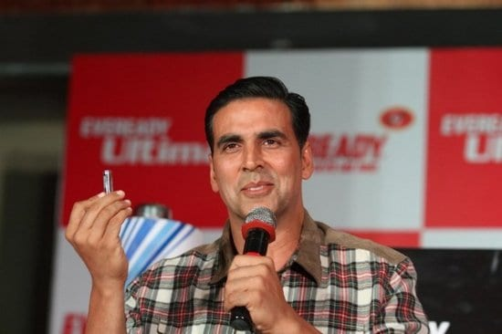 Akshay Kumar at the Eveready Product Launch