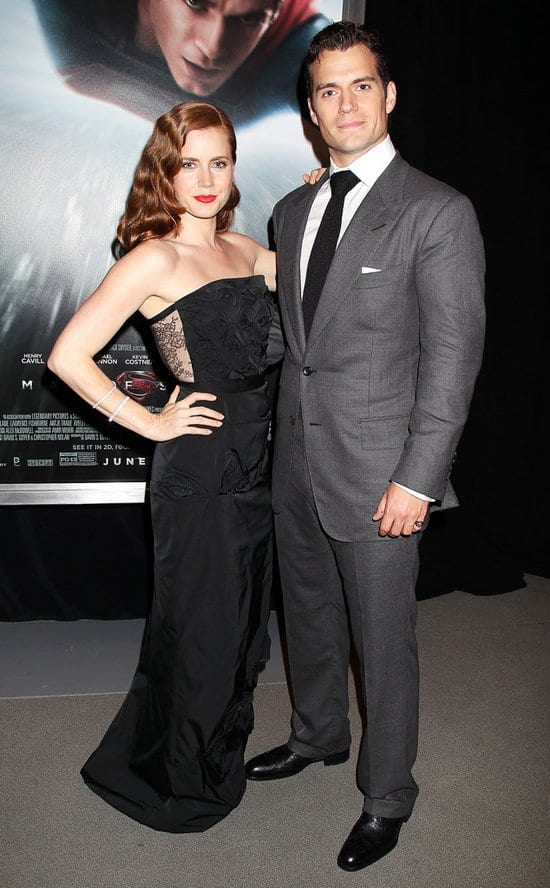 Amy Adams and Henry Cavill at the Premiere of Men of Steel in New York