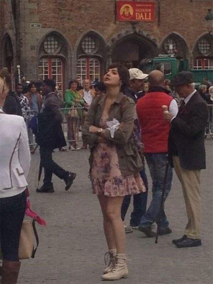 Anushka Sharma on the sets of Peekay in Belgium