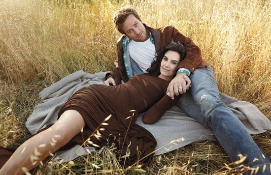 Armie Hammer & his wife Elizabeth Chambers on Town & Country Magazine