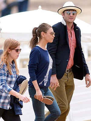 Ashton Kutcher and Mila Kunis Vacation Spotted in Saint-Tropez