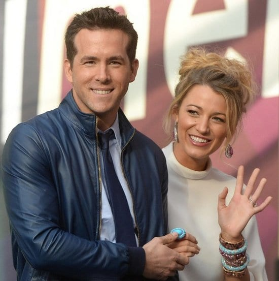 Blake Lively and Ryan Reynolds attend the Chime For Change Event in London