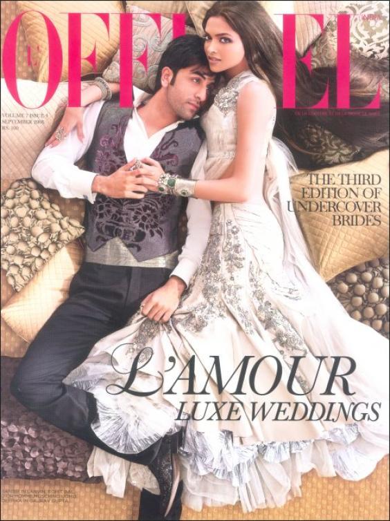 Deepika Padukone and Ranbir Kapoor on L'Officiel Magazine