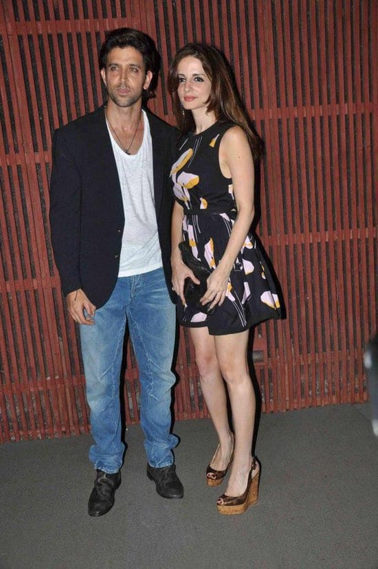 Hrithik Roshan and Sussanne Khan Roshan at Kangana Ranaut's Birthday Party
