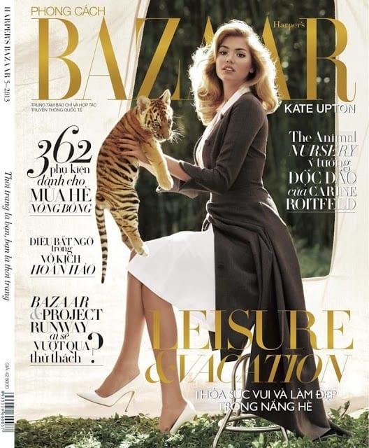 Kate Upton on Harper's Bazaar Magazine