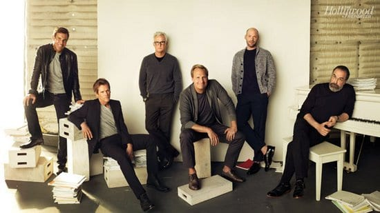 Kevin Bacon, Jeff Daniels, Mandy Patinkin, Dennis Quaid, John Slattery and Corey Stoll in The Hollywood Reporter Magazine