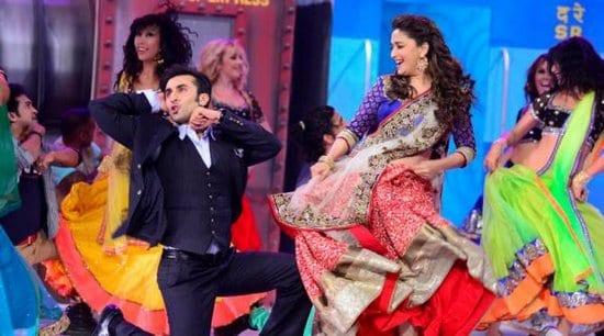 Ranbir Kapoor, Madhuri Dixit, Karan Johar and Remo D'souza at the Grand Premiere of Jhalak Dikhla Jaa