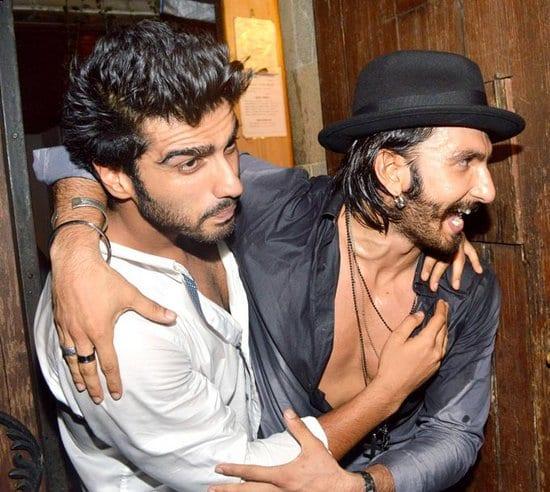 Ranveer Singh at Arjun Kapoor's Birthday Party