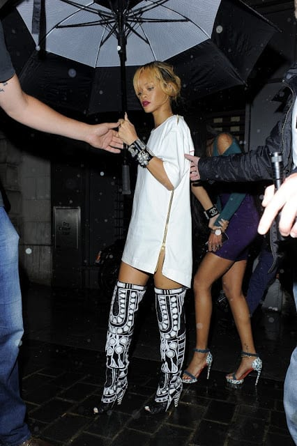 Rihanna Spotted in London