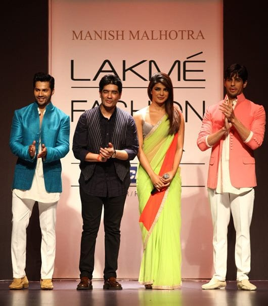 Siddharth Malhotra, Varun Dhawan and Priyanka Chopra at the LIFW 13