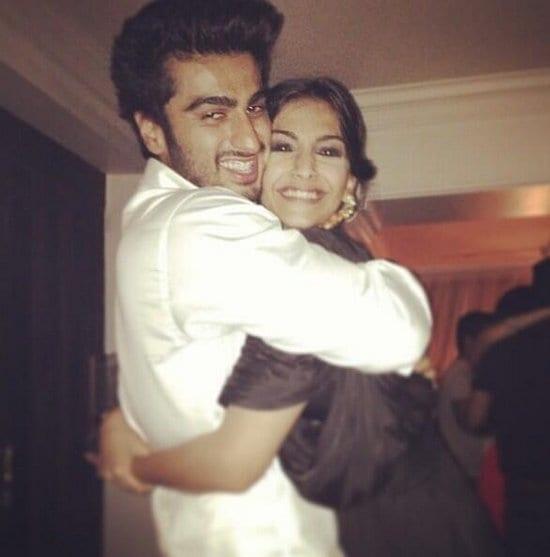Sonam Kapoor and Arjun Kapoor at Arjun Kapoor's Birthday Party