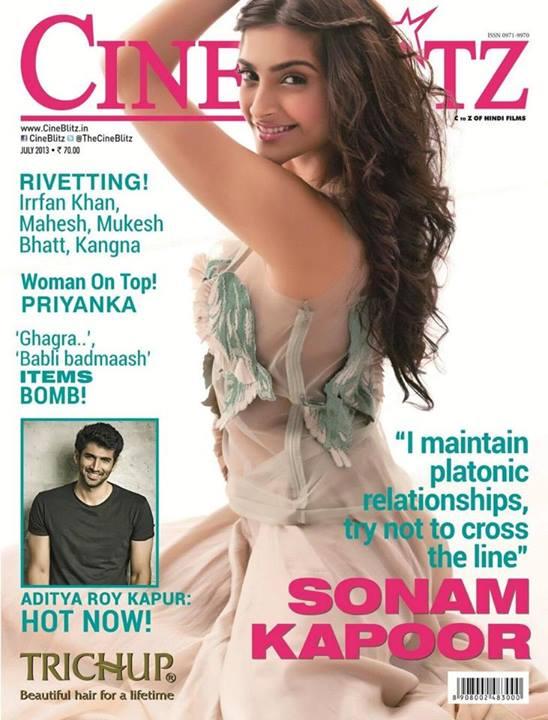 Sonam Kapoor on CineBlitz Magazine