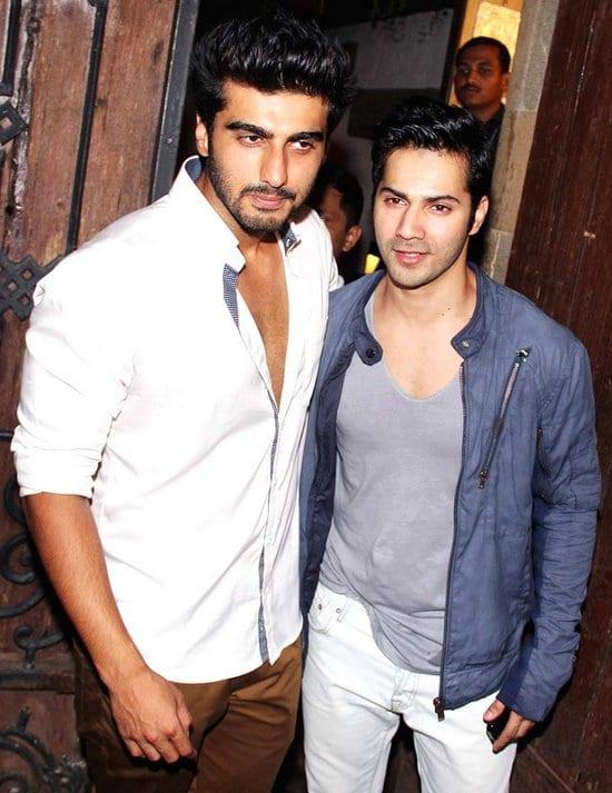 Varun Dhawan at Arjun Kapoor's Birthday Party