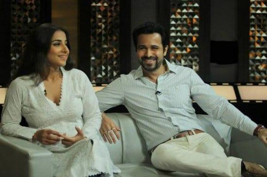 Vidya Balan and Emraan Hashmi on The Front Row