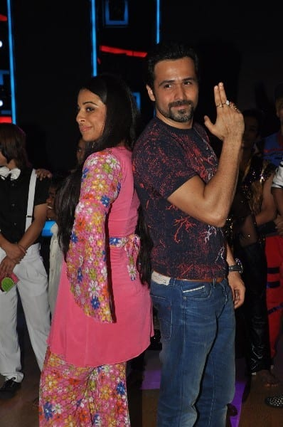 Vidya Balan and Emraan Hashmi on the sets of India's Dancing Superstar