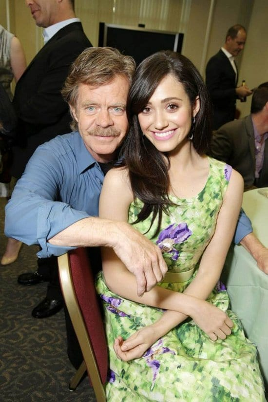 William H. Macy, Emmy Rossum, Emma Kenney, Shanola Hampton and Zach McGowan at the Academy of Television Arts and Sciences for Shameless