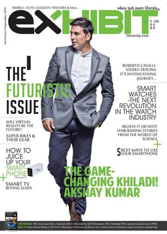 Akshay Kumar on Exhibit Magazine