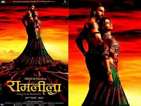 Deepika Padukone and Ranveer Singh in Sanjay Leela Bhansali's Ram Leela