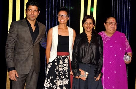 Farhan Akhtar, Adhuna Akhtar, Zoya Akhtar, Honey Irani at Rakesh Roshan's Birthday Celebrations