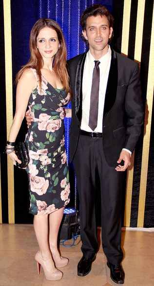 Hrithik Roshan and Sussanne Khan Roshan at Rakesh Roshan's Birthday Celebrations