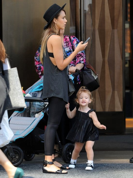 Jessica Alba and her daughter Haven Spotted
