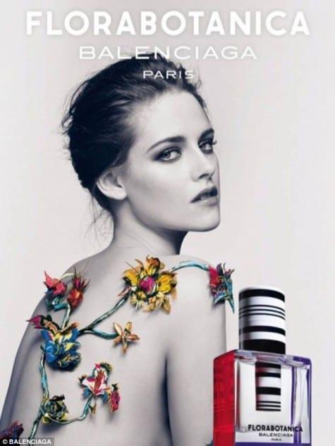 Kristen Stewart in a Balenciaga Florabotanica Ad