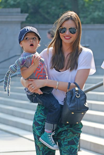 Miranda Kerr and Her Son Flynn Spotted