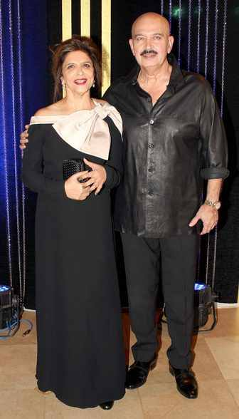 Rakesh Roshan and Pinky at Rakesh Roshan's Birthday Celebrations