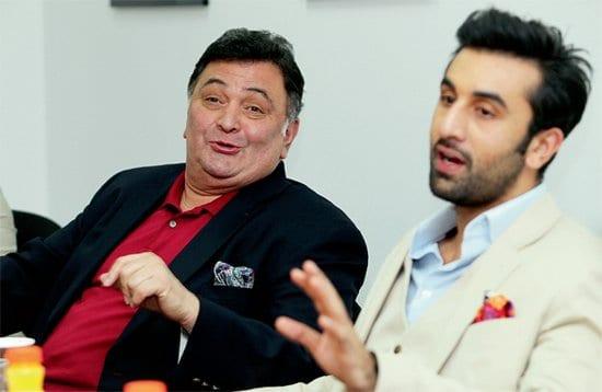 Ranbir Kapoor and Rishi Kapoor at the Khaleej Times Office