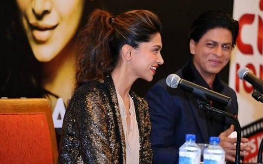 Shah Rukh Khan and Deepika Padukone at a Press Conference in Dubai