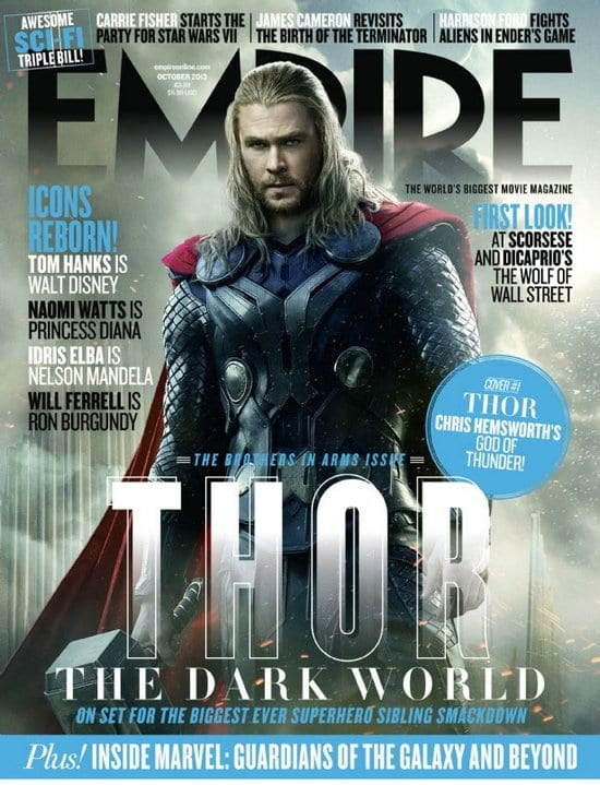 Tom Hiddleston and Chris Hemsworth on Empire Magazine