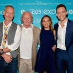 Tom Hiddleston, Natalie Portman and Anthony Hopkins at the Disney D23 Expo