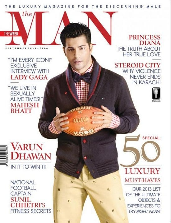 Varun Dhawan on The Man Magazine