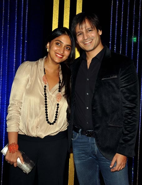 Vivek Oberoi and Priyanka at Rakesh Roshan's Birthday Celebrations