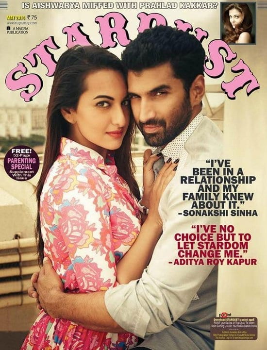 Aditya Roy Kapur and Sonakshi Sinha on Stardust Magazine