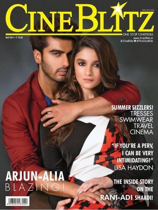 Alia Bhatt and Arjun Kapoor on CineBlitz Magazine