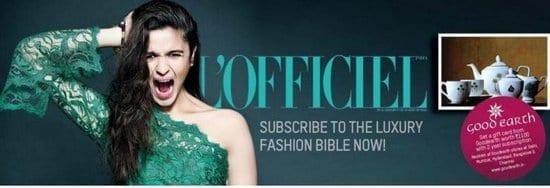 Alia Bhatt on L'Officiel Magazine