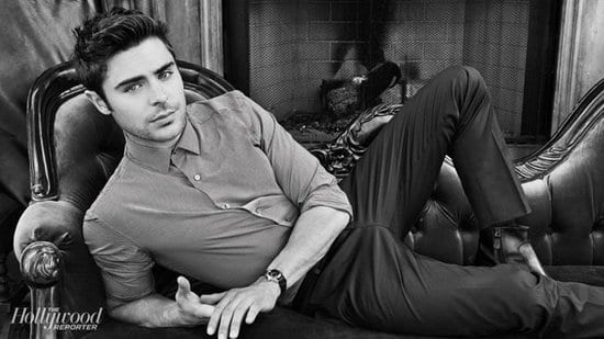 Zac Efron in The Hollywood Reporter Magazine