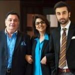 Ranbir Kapoor, Rishi Kapoor and Neetu Singh Kapoor in an Unseen Picture