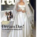 Angelina Jolie and her Wedding Dress on People Magazine